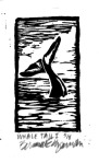 Whale Tail 1 block printed t-shirt