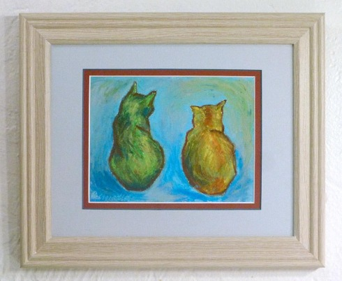 framed print of oil pastel painting