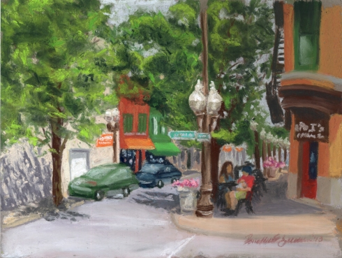 Main Street Sunday digital print.