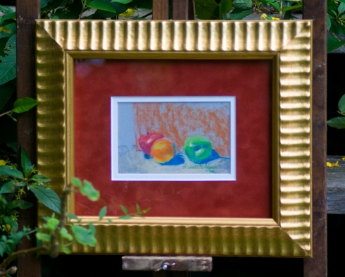 Fruit framed original pastel.