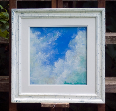 April Cloud Study framed original pastel.