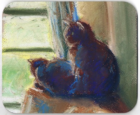"""The Sunny Upstairs Window"" mousepad."