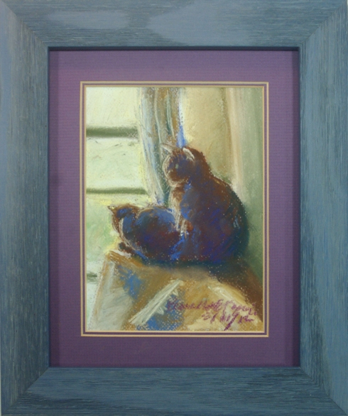 """The Sunny Upstairs Window"" framed."