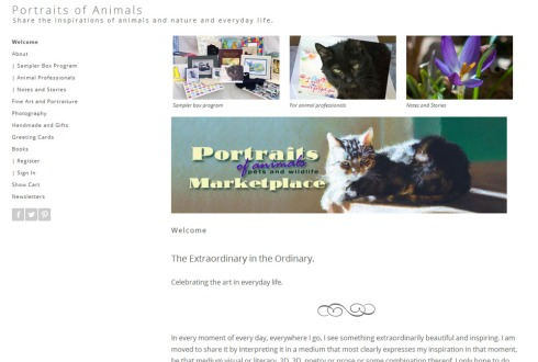 Portraits of Animals new website!